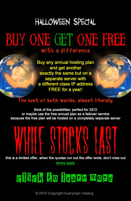 Buy one hosting plan and get one free